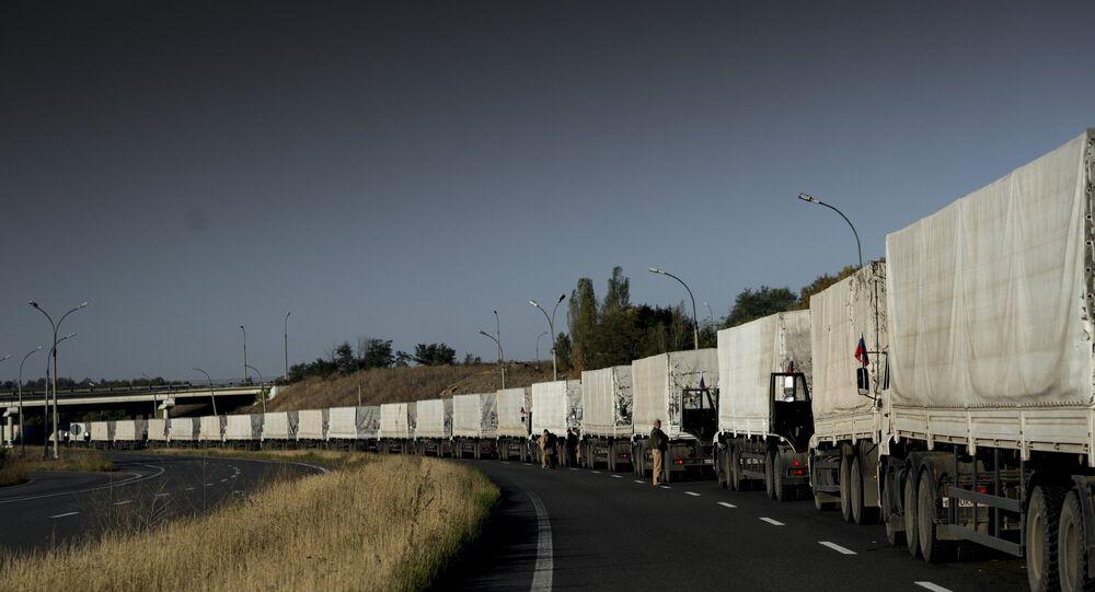 Third humanitarian aid convoy arrives in Ukraine