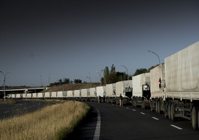 Third humanitarian aid convoy arrives in Ukraine