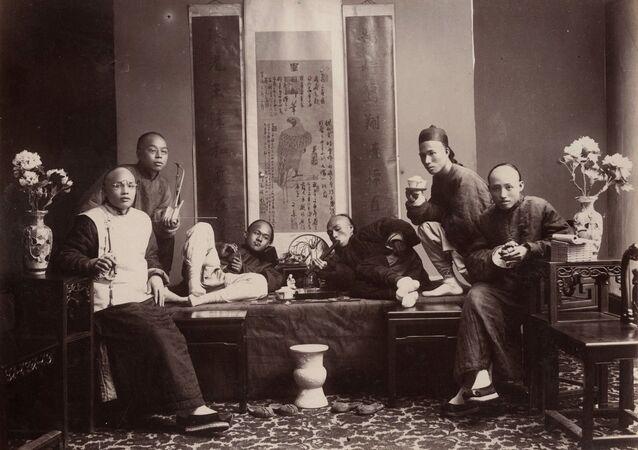 Opium smokers 1880s
