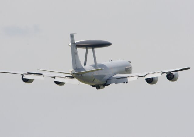 A Boeing E-3 Sentry AWACS performs a flying display at the47th International Paris Air Show. (File)