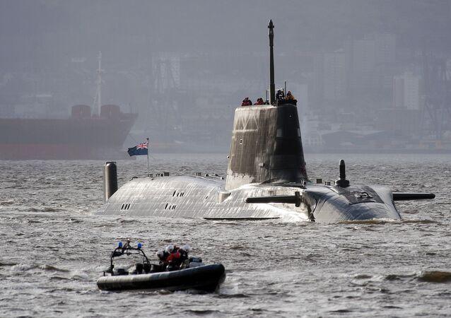 HMS Astute, the British Royal Navy's latest nuclear hunter killer submarine