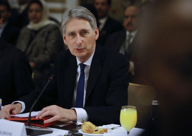 British Foreign Secretary Philip Hammond.