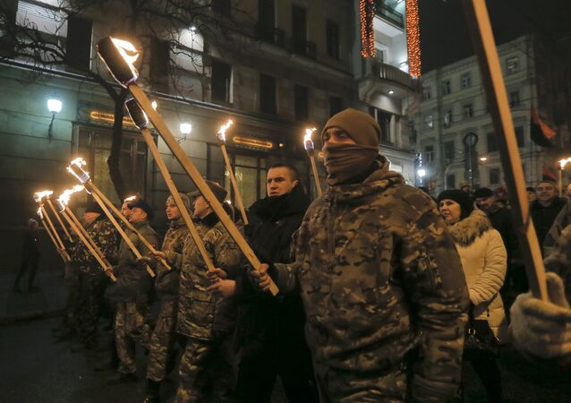 Nationalist March in Kiev. File photo