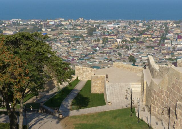 The Naryn-kala Citadel, a part of the Derbent State Historical Architecture and Arts Museum-Reserve in the city of Derbent, Republic of Dagestan