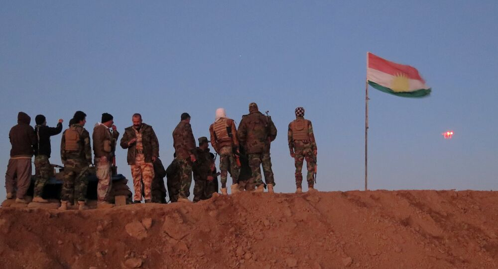 Iraqi Kurdish peshmerga fighters