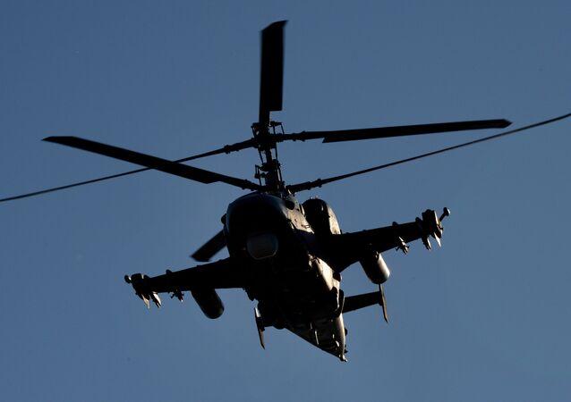 Ka-52 Alligator helicopter.