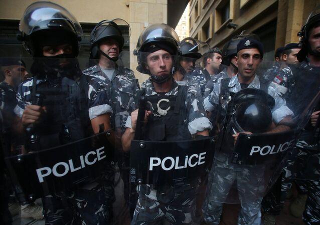 Lebanese riot police