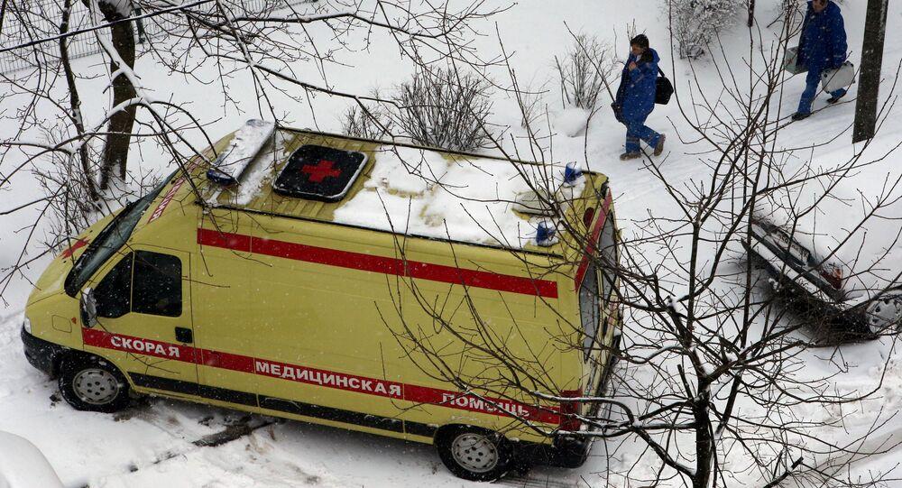 An ambulance car
