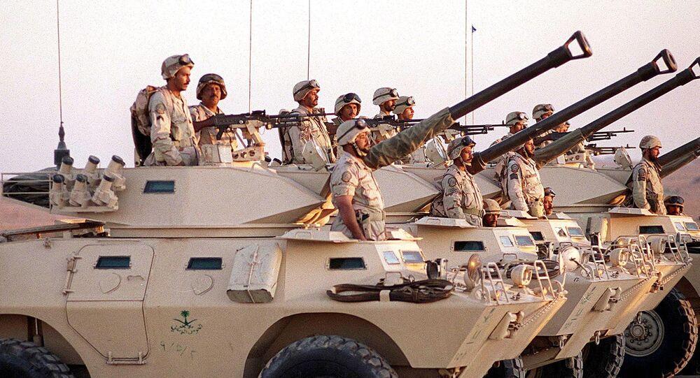 Saudi armoured vehicles