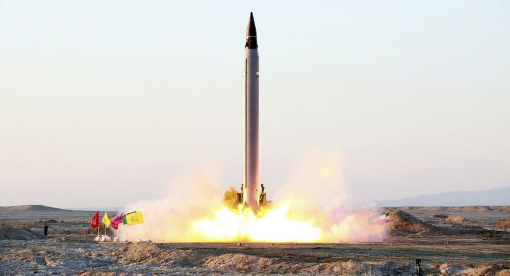 Launching of an Emad long-range ballistic surface-to-surface missile in an undisclosed location