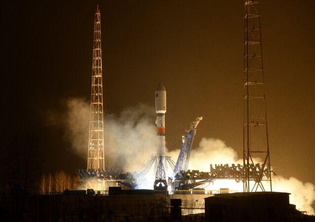 Launch of rocket carrier Soyuz-2.1b from Plesetsk cosmodrome