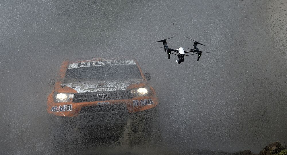 Toyota's driver Ronan Chabot of France and co-driver Gilles Pillot compete during the 11km Prologue of the 2016 Dakar Rally, in the province of Buenos Aires, on January 2, 2016
