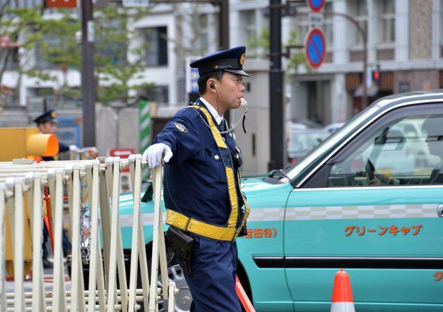 Police officer  in Tokyo