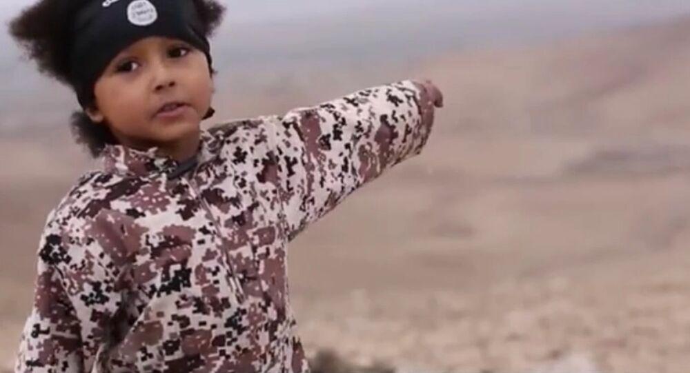 Jihadi Junior featured in latest Daesh video