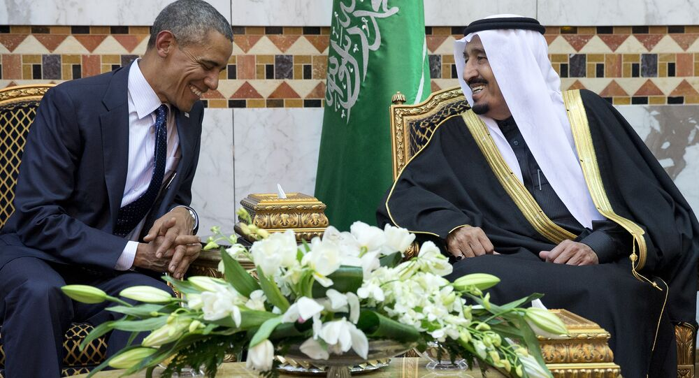 President Barack Obama meets new Saudi Arabian King Salman bin Abdul Aziz in Riyadh, Saudi Arabia (file photo)