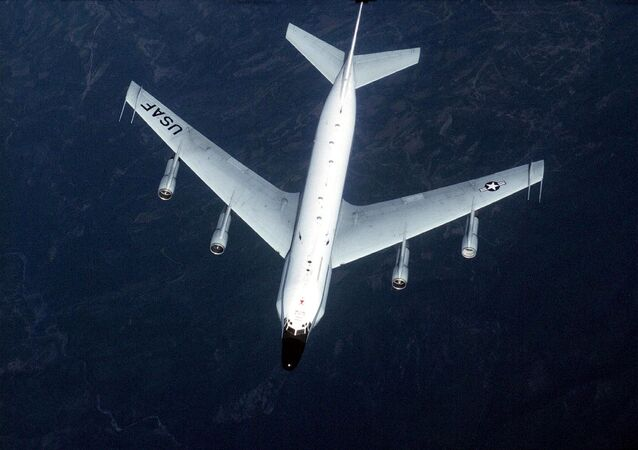 US Air Force shows an RC-135 surveillance aircraft