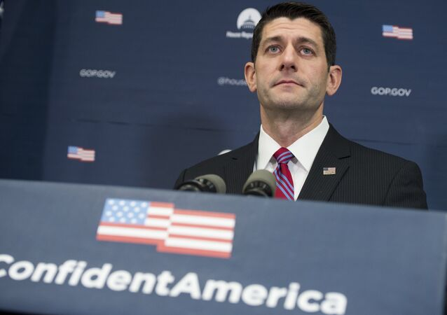 Speaker of the House Paul Ryan, Republican of Wisconsin, speaks during a press conference at the US Capitol in Washington, DC, January 6, 2016.