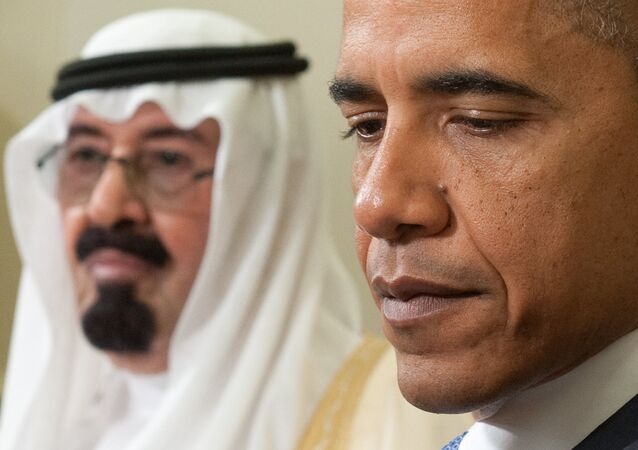 US President Barack Obama (R) and  King Abdullah of Saudi Arabia during meetings in the Oval Office at the White House in Washington on June 29, 2010