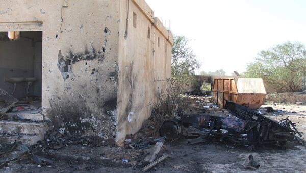 A general view shows the damage at the scene of an explosion at the Police Training Centre in the town of Zliten, Libya, January 7, 2016. - Sputnik International