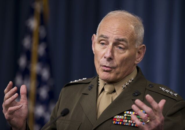 US Southern Command Commander Gen. John Kelly speaks to reporters during a briefing at the Pentagon, Friday, Jan. 8, 2016.