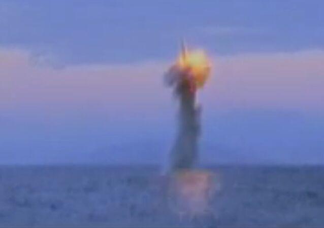 North Korean Submarine Launches Missile Test