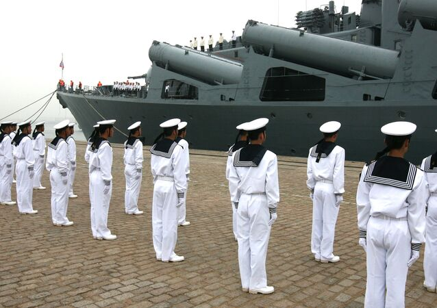 Flagman of the Russian Pacific Fleet missile cruiser Varyag arrived at the Chinese port of Quindao on official visit