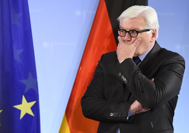 German Foreign Minister Frank-Walter Steinmeier addresses a news conference after talks with his Belarus counterpart in Berlin on November 18, 2015