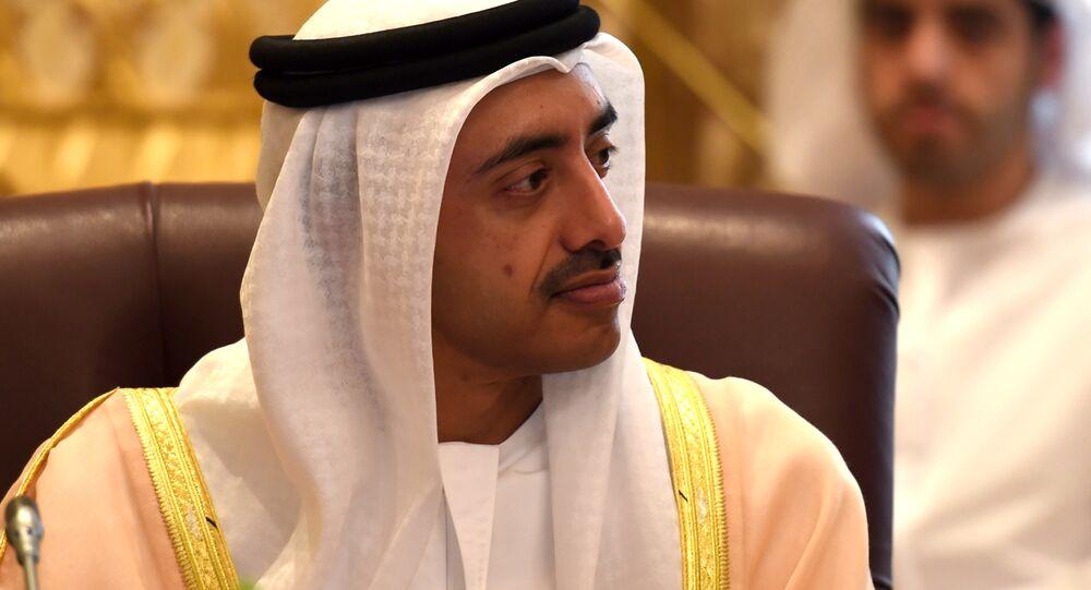 Emirati Foreign Minister Sheikh Abdullah bin Zayed al-Nahyan
