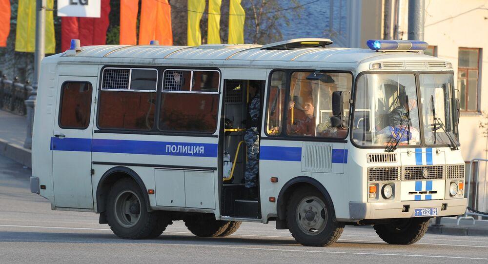 Police van. File photo