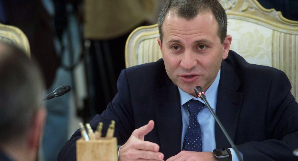 Lebanon's Foreign Minister Gebran Bassil