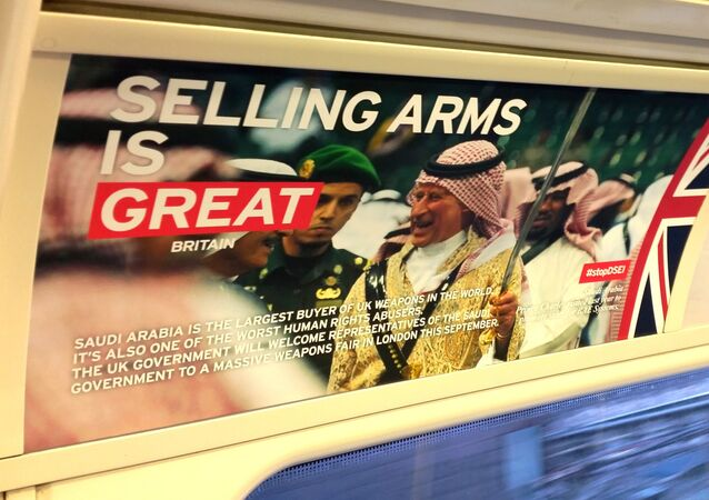 Spoof ad on the tube in London, UK