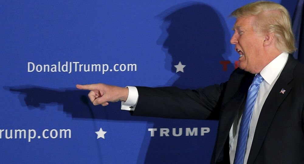 US Republican presidential candidate Donald Trump