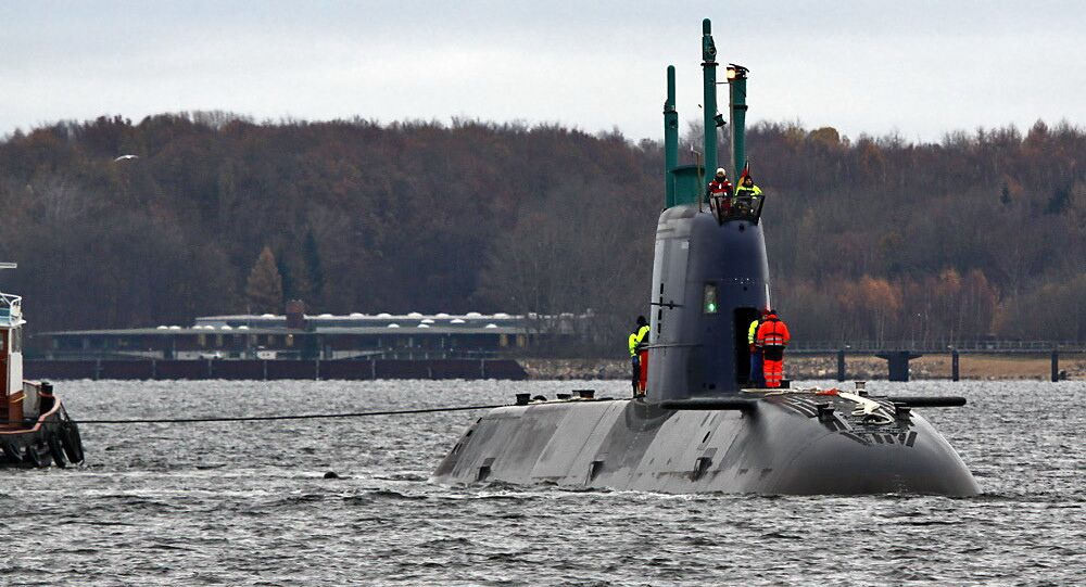 After completing deep sea trials off coast Denmark, TANIN returns to the shipyard at Kiel. Future owner of the Super Dolphin-class submarine is Israel