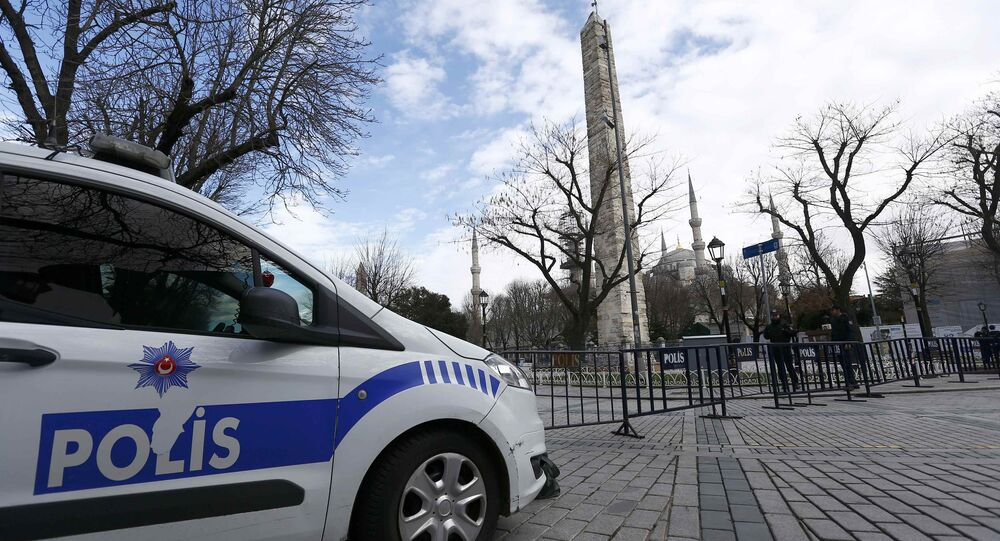 Police secure the area around the Obelisk of Theodosius at Sultanahmet square in Istanbul, Turkey January 13, 2016