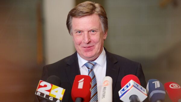 Maris Kucinskis of the Greens and Farmers Union (ZZS) speaks during a press conference after Latvian President nominated him as Prime Minister and asked to form a new government in Riga - Sputnik International