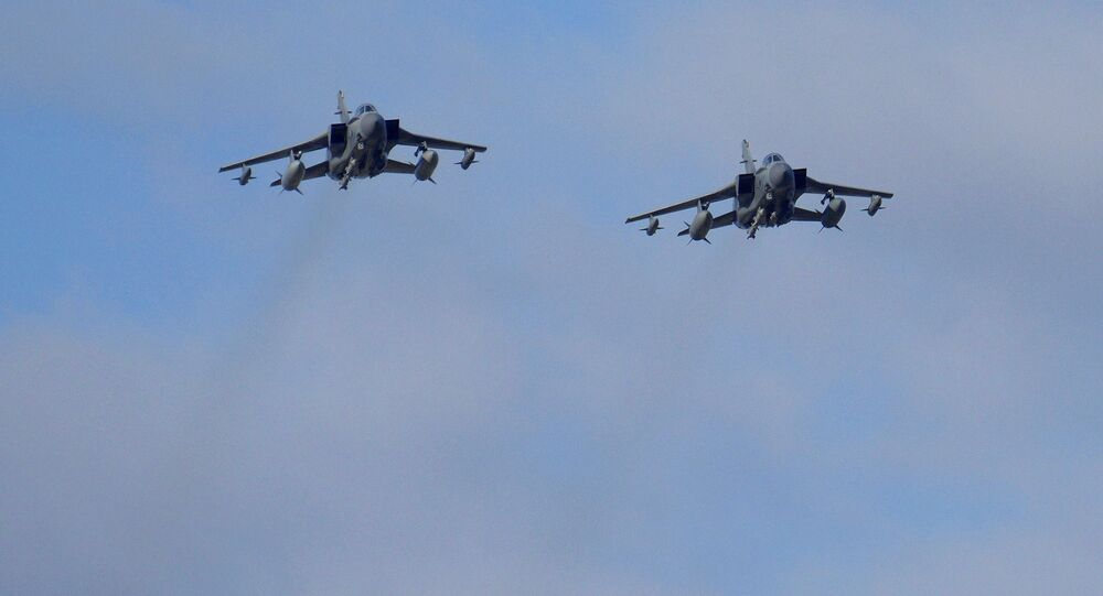 Two British Tornados warplanes fly over the RAF Akrotiri, a British air base near costal city of Limassol, Cyprus as they arrive from an airstrike against Islamic State group targets in Syria. (File)