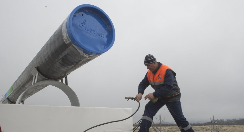 Preparations for the ceremony launching the construction of South Stream pipeline. (File)