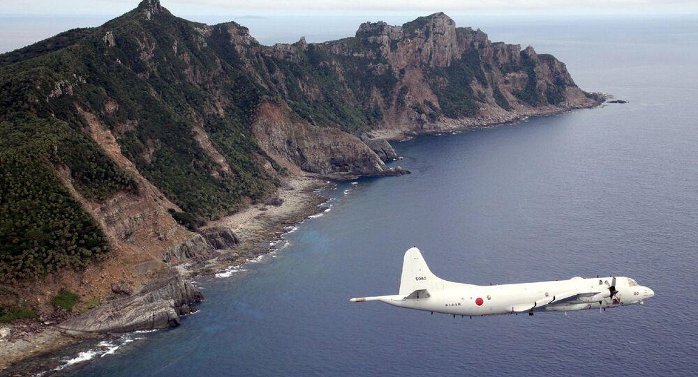P-3C patrol plane of Japanese Maritime Self-Defense Force