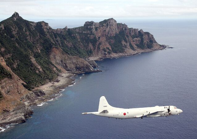 P-3C patrol plane of Japanese Maritime Self-Defense Force