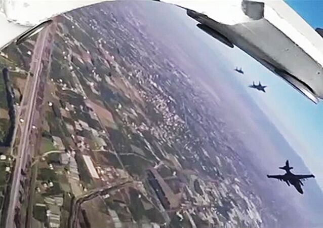 Syrian Air Force's MiG-29 fighter jets have escorted Russian Su-25S bombers during an anti-terrorist aerial campaign over Syria, the Russian Defense Ministry said in a statement