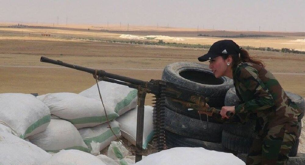 Syrian female fighter