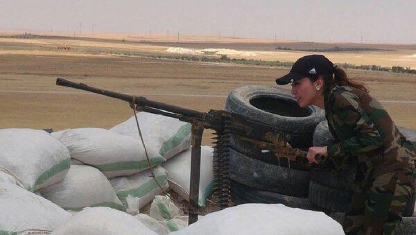 Syrian female fighter - Sputnik International
