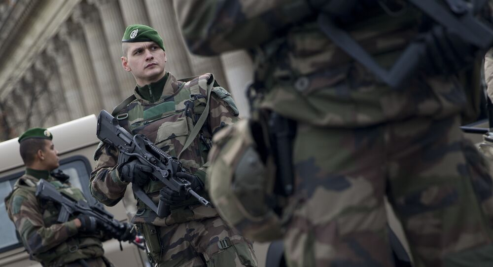 French soldiers patrol