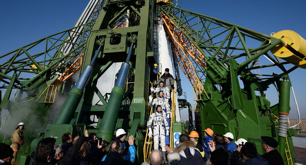 Soyuz-FG carrier missile with the manned Soyuz TMA-19M at the Baikonur cosmodrome. (File)