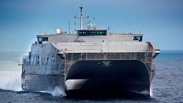 US Navy Spearhead (Expeditionary Fast Transport) during sea trials in 2012 - Sputnik International