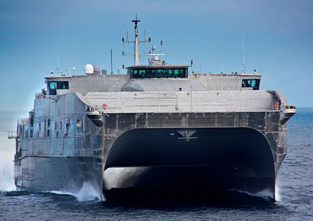 US Navy Spearhead (Expeditionary Fast Transport) during sea trials in 2012
