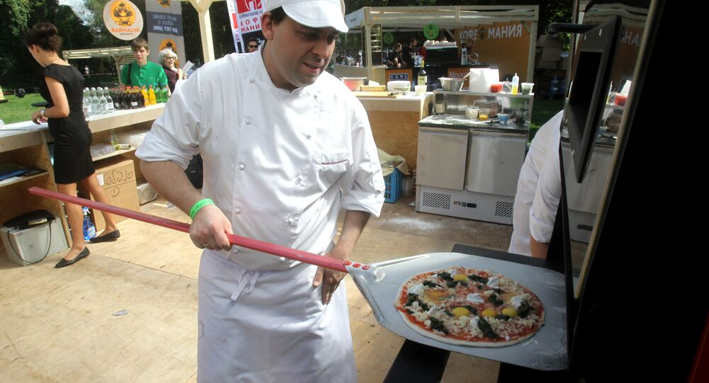 Food fest in Gorky Central Park of Culture and Leisure