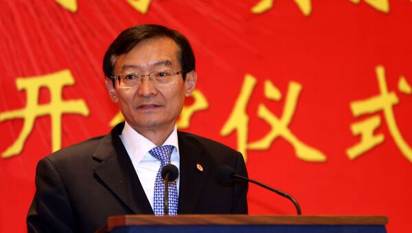ice-foreign minister of China Zhang Ming delivers a speech during the inauguration ceremony of the Consulate General of People's Republic of China on December 30, 2014 in Arbil, the capital of the Kurdish autonomous region in northern Iraq. - Sputnik International