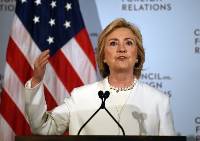 Democratic presidential hopeful Hillary Clinton