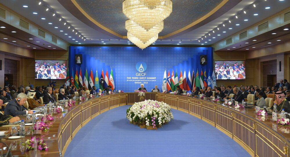 November 23, 2015. Russian President Vladimir Putin attends the summit of the heads of state and government of the Gas Exporting Countries Forum in Tehran